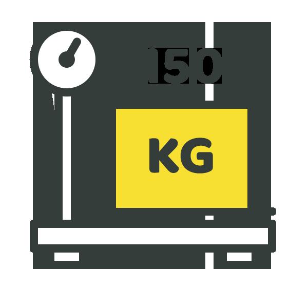 150kg per side